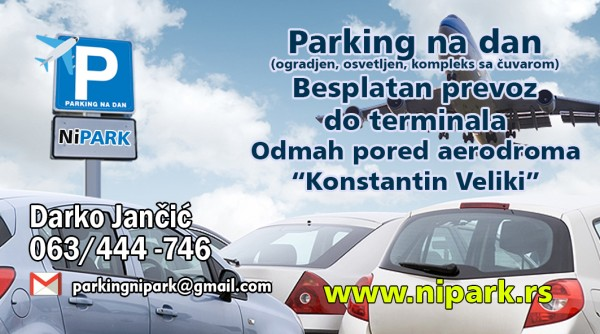 Aerodrom Nis parking NiPark